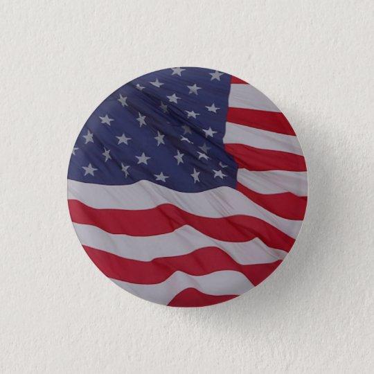 USA-Flagge - mag sie lang wellenartig bewegen Runder Button 2,5 Cm