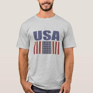 USA-Flaggen-Druck-T-Stück T-Shirt