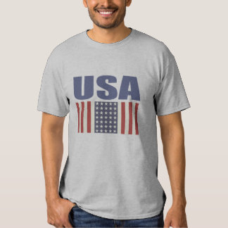 USA-Flaggen-Druck-T-Stück Tshirts