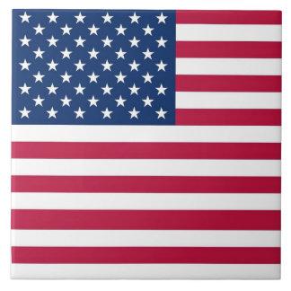 USA-Flaggen-Fliese Große Quadratische Fliese