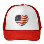USA-Flaggen-Herz Kappen