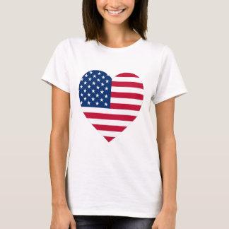 USA-Flaggen-Herz T-Shirt