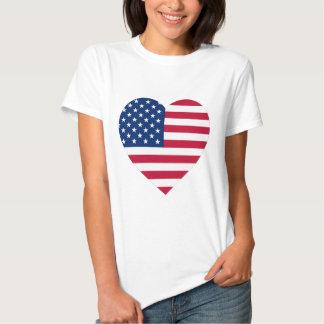 USA-Flaggen-Herz Tshirt