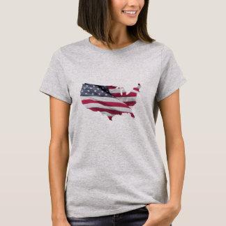 USA-Flaggen-Karte T-Shirt