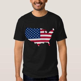 USA-FLAGGEN-KARTE T-SHIRTS
