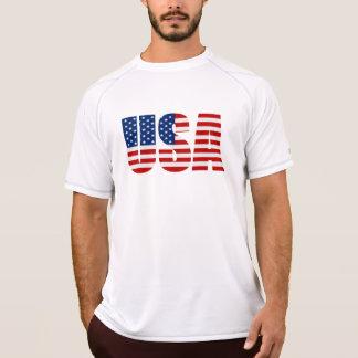 USA-Flaggen-Meister-Doppelt-trockener Muskel-T - T-Shirt