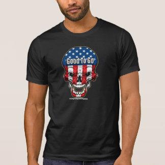 USA-Flaggen-Schädel Hemd