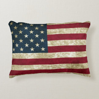USA-Flaggen-Schmutz Deko Kissen