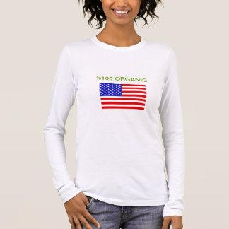 USA-FLAGGEN-T-SHIRTS LANGÄRMELIGES T-Shirt