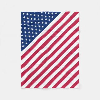 USA-Flaggen-US Flagge-Baby-Fleece-Decke Fleecedecke