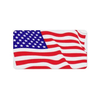 USA-Flaggenaufkleber Adressetiketten