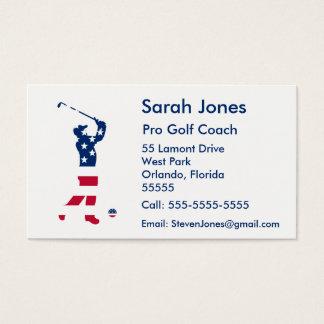 USA-Golf Amerika-Flaggengolfspieler Visitenkarte