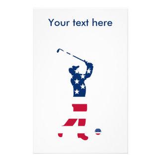 USA-Golf Flaggegolfspieler Briefpapier