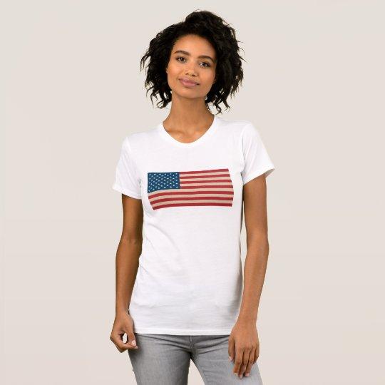 USA-Imitatleinwandflagge T-Shirt