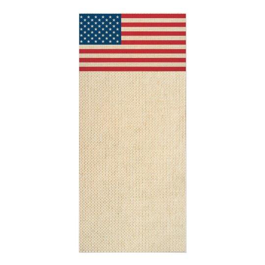 USA-Imitatleinwandflagge Werbekarte