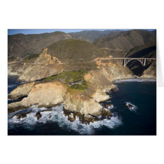 USA. Kalifornien. Großes Sur. Bixby Brücke Karte