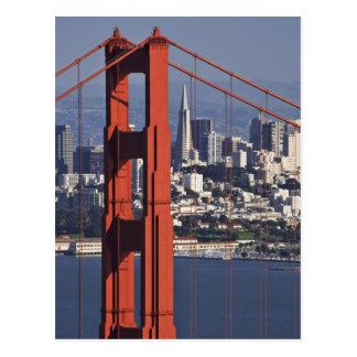 USA, Kalifornien, San Francisco. Luftaufnahme von Postkarte