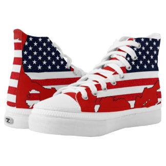 USA-Karte Hoch-geschnittene Sneaker