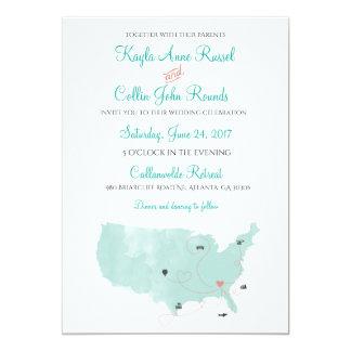 USA-Karten-Hochzeit in Karte