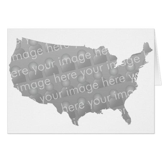 USA-Karten-Karten-Entwurf Grußkarte