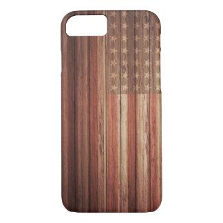 USA KENNZEICHNEN ALTES HOLZ iPhone 8/7 HÜLLE