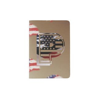 USA kennzeichnen amerikanisches Anfangsmonogramm P Passhülle