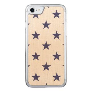 USA kennzeichnen blaue Sterne auf Weiß Carved iPhone 7 Hülle