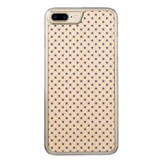 USA kennzeichnen blaue Sterne auf Weiß Carved iPhone 8 Plus/7 Plus Hülle