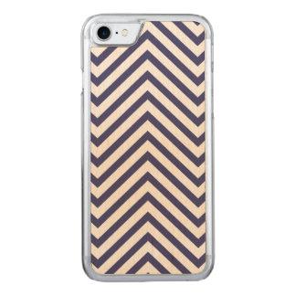 USA kennzeichnen blauer u. weißer gewellter Carved iPhone 8/7 Hülle