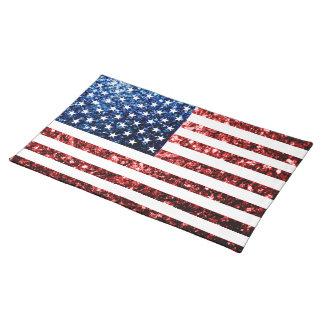 USA kennzeichnen die roten u. blauen Tischset