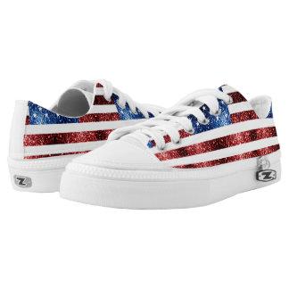 USA kennzeichnen die roten und blauen Niedrig-geschnittene Sneaker