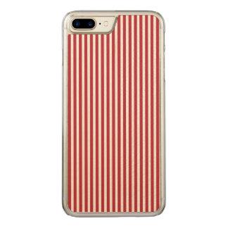 USA kennzeichnen die roten und weißen Streifen Carved iPhone 8 Plus/7 Plus Hülle