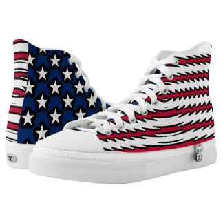 USA kennzeichnen patriotischen Amerikaner Hoch-geschnittene Sneaker