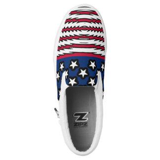 USA kennzeichnen patriotischen Amerikaner Slip-On Sneaker