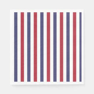 USA kennzeichnen Rot und kennzeichnen blaue breite Servietten