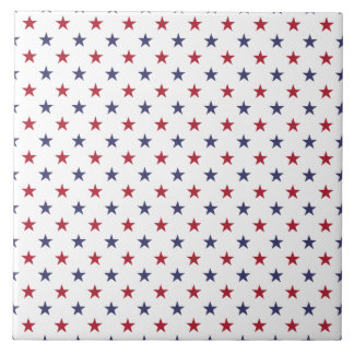 USA kennzeichnen Rot und kennzeichnen blaue Sterne Große Quadratische Fliese
