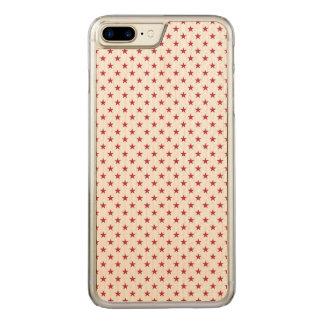 USA kennzeichnen rote Sterne auf weißen Carved iPhone 8 Plus/7 Plus Hülle