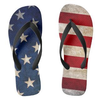 USA kennzeichnen und die Unisex Sterne drehen Flip Flops