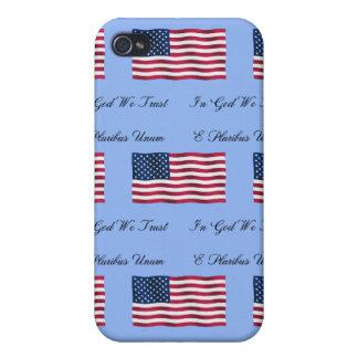 USA kennzeichnen und Motto iPhone 4/4S Cover