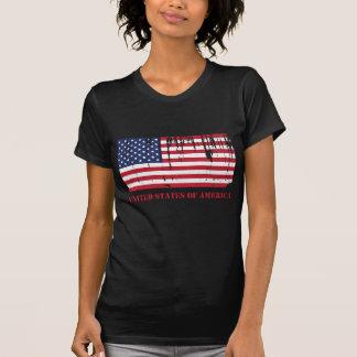 USA kennzeichnet amerikanische Flagge T Shirt