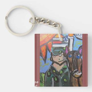 USA-Kunst 4 Einseitiger Quadratischer Acryl Schlüsselanhänger