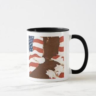 USA, Louisiana, Hafen Allen. Patriotisches Tasse