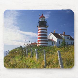 USA, Maine, Lubec. WestQuoddy Hauptleuchtturm Mousepad