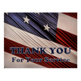 USA-Militärveteranen-patriotische Flagge danken Postkarte