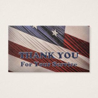 USA-Militärveteranen-patriotische Flagge danken Visitenkarte