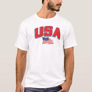 USA mit amerikanischer Flagge T-Shirt