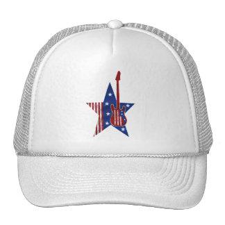 USA-Musical-Flagge Caps
