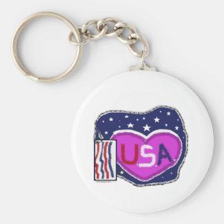 USA-Patchwork Schlüsselanhänger