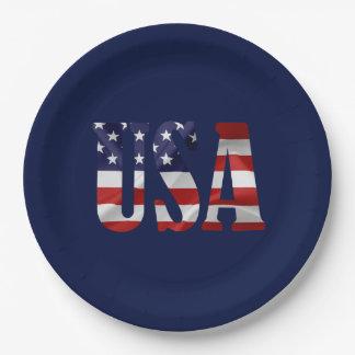 USA patriotisch Pappteller