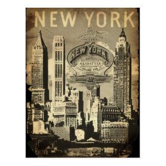 USA-Reise-Sehenswürdigkeit Vintages New York Postkarten